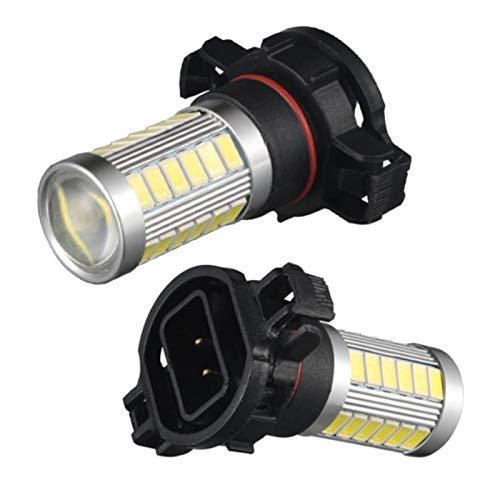 Gcsheng Lámpara de niebla de coche LED 5202 5201 PSX24W LED Psy24W PS19W H16 Motocicleta Señal de giro luces LED Accesorios de luz de conducción 600lm ( Emitting Color : White , Socket Type : PSY24W )