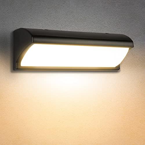 Apliques Pared Exterior, 30W Moderna Luz Sensor Movimiento Exterior, IP65 Impermeable Lampara Exterior Pared, perfecto para Patio Balcón Pasillo Jardin Exterior Pared Iluminacion (Blanco cálido)