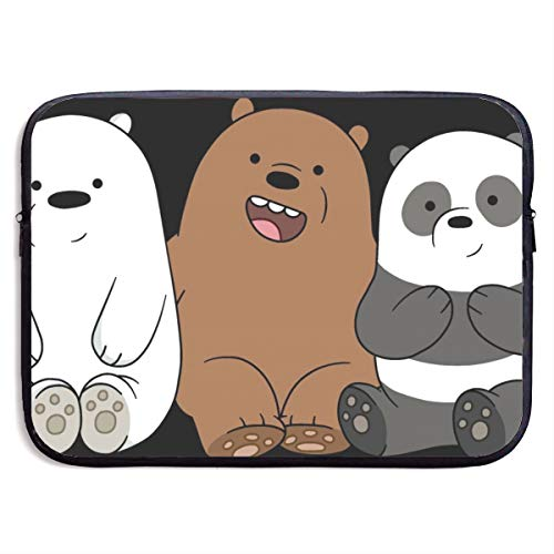We Bare Bears Season Laptop Sleeve Bag Tablet Fashion Briefcase Ultra Portable Protective Cover MacBook Air MacBook Pro Notebook Computer Sleeve Case 15 inch