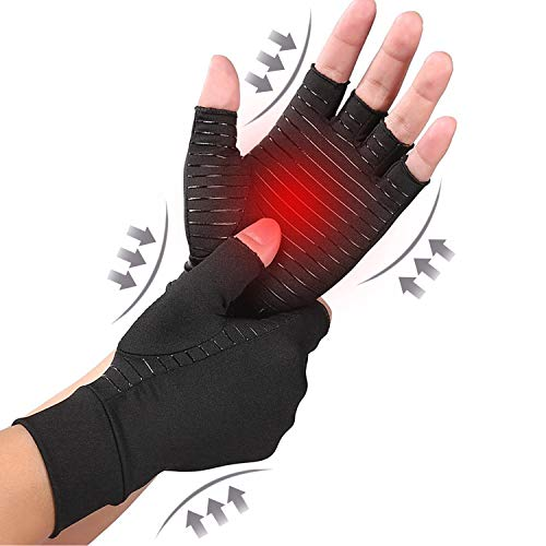 DRNAIETY Copper Arthritis Compression Gloves for Men and Women High Copper Infused Compression Gloves Pain Relief and Healing for Arthritis Carpal Tunnel Typing and Daily Work Medium