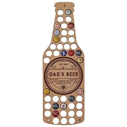 Soporte para tapa de cerveza, mapa, regalo de papá, soporte para botellas de cerveza para marido, hogar, coleccionista de tapas de cerveza, soporte para botellas de cerveza