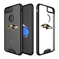 "Ravens Clear Case Compatible with iPhone 6s Plus/6 Plus/7 Plus/8 Plus 5.5"" Military Grade Drop Protective Cover Premium Hybrid Rugged Bumper Transparent Back Shell Phone Photo Frame for 6s 7 8 Plus"