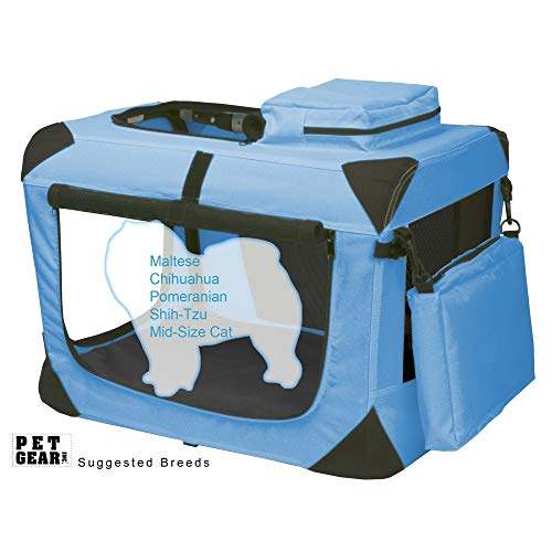 Pet Gear 3 Door Portable Soft Crate, Folds Compact...