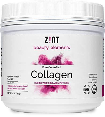 Zint Collagen Peptides Powder (14 Ounce): Hydrolyzed Collagen Protein...