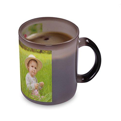 Kopierladen Zaubertasse mit eigenem Foto oder Motiv selbst gestalten - individualisierbare Fototasse mit Thermo-Effekt - Magictasse, Fotogeschenk, Changing Cup