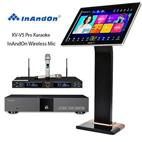 Great Features Of InAndon KV-V5 Pro Karaoke Player 8T, with 2 top grade wireless Mic, 21.5'' Capacit...