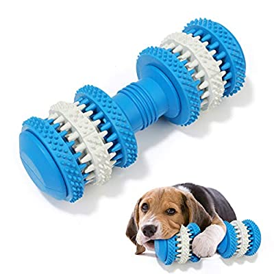Dog Toothbrush Chew Toys, Natural Rubber Dog Toothbrush Toys, Dog Chew Toys Stick for Training and Cleaning Teeth, Interactive Dog Toys for Small/Medium Dog