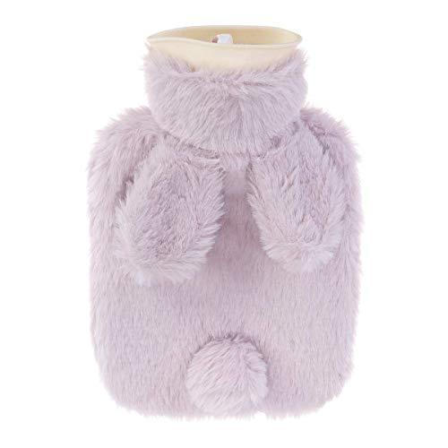 LIZONGFQ Korean Style Fashion Plüsch-Kaninchen-Wasser-Einspritzung Wärmflasche, 500 ml heiße Wasser-Beutel-Flasche im Winter warm, beweglichen im Freien Warm Handwärmer zu Halten