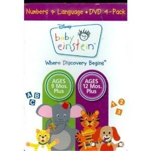Baby Einstein: Numbers & Language (4-Disc): Baby Noah / Baby Wordsworth / Numbers Nursery / Baby's Favorite Places