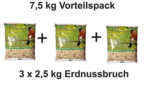 Erdnussbruch 3 x 2,5kg Beutel, Winterfutter, Eichhörnchenfutter, Vogelfutter