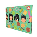 Vhsyudgdyi Bob's Burgers 5D Diamond Painting Kits for Adults & Kids Colorful Owl Full Drill Round Diamond Crystal Gem Arts Painting Perfect for Home Wall Decor (12x16inch)