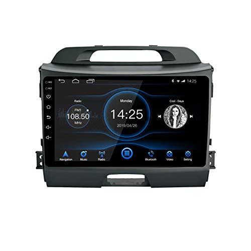 EZoneTronics Android 10.1 Autoradio Stereo per Kia Sportage 2010-2015 Touch screen da 9 pollici Unità principale di navigazione GPS ad Bluetooth Wifi USB Controllo del volante Lettore 2G RAM + 32G ROM