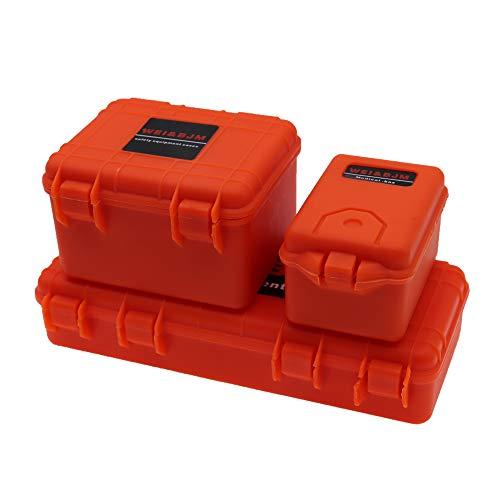 REhobby 3Pcs 1/10 Mini Toolbox Trunk Decoration Accessories for 1:10 RC Crawler Car Traxxas Trx4 Axial Scx10 90046 CC01 D90 D110 (Orange)