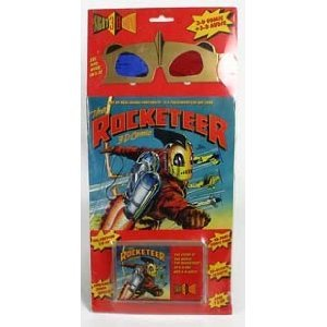 The Rocketeer 3-d Comic With 3-d Glasses And Cassette Tape