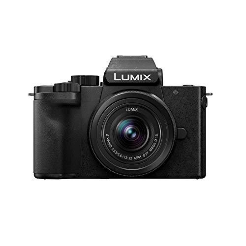 Panasonic Lumix - Fotocamera ibrida compatta DC-G100KEF-K + Lumix 12-32 F3.5-5.6 (Capt. 4 3 20 MP, schermo oriente, tact, mirino 3680 Kpts, microfono OZO Audio,video 4K,Vlog-L,WiFi), colore: Nero