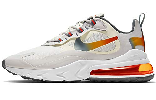 Nike Herren AIR MAX 270 React SE Laufschuh, Summit White MTLC Gold Vapste Grey Smoke Grey Team Orange White, 44 EU