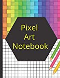 Pixel Art notebook: Pixel art coloring -A4 squared notebook. Sketchbook or squared notebook. Pixel art drawing book for children or adults.
