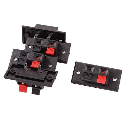 Sourcingmap® 5stk. 2 Weg Push Release Anschluss Plattenverstärker Lautsprecher Klemme Block de