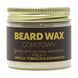 Detroit Grooming Co. Beard Wax - Corktown Scent - Vanilla, Tobacco, and Cedarwood - All Natural,...