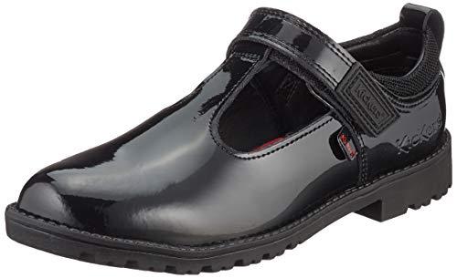 Kickers Lachly T Bar, Zapatos Planos Mary Jane para Niñas, Negro, 18 EU