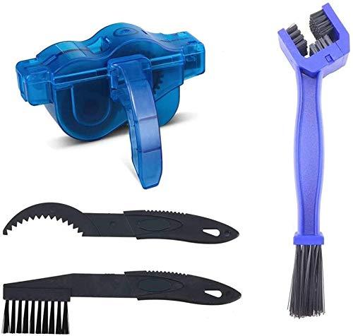 NBAUTO Fahrrad-Kettenreinigungsgerät Fahrrad-Kettenreiniger-Werkzeug-Set mit Schrubber-Bürste für alle Arten von Fahrrad-Kettenreinigung