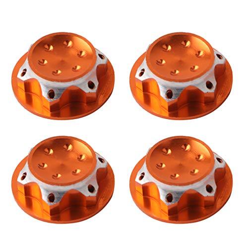 STOBOK 4 stücke 17mm radnabenabdeckung 1/8 rc Auto Anti-staubschutz 17mm radmitte Kappen (golden)