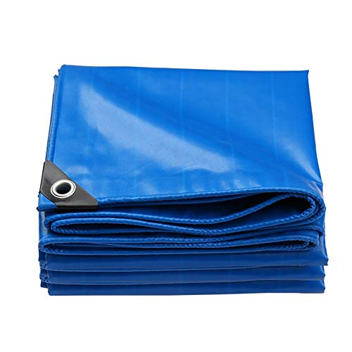 AGLZWY Tarp Sheet Thicken Tarpaulin Shade Sunshield Protect Cover For Outdoor Garden Furniture, Pool, Car, Truck, Camping (Color : Blue, Size : 1.9X1.9M)