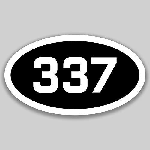 DHDM 337 Area Code Sticker Louisiana Lafayette Lake Charles New Iberia City Pride Love | 5-Inches by 3-Inches | Premium Quality Vinyl UV Resistant Laminate PD2494