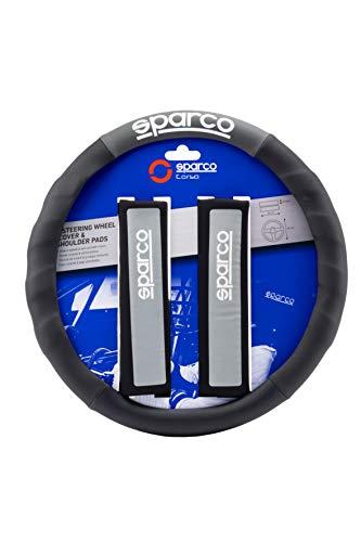 Sparco SPC1111KGR Copri Volante e Cuscini, Grigio