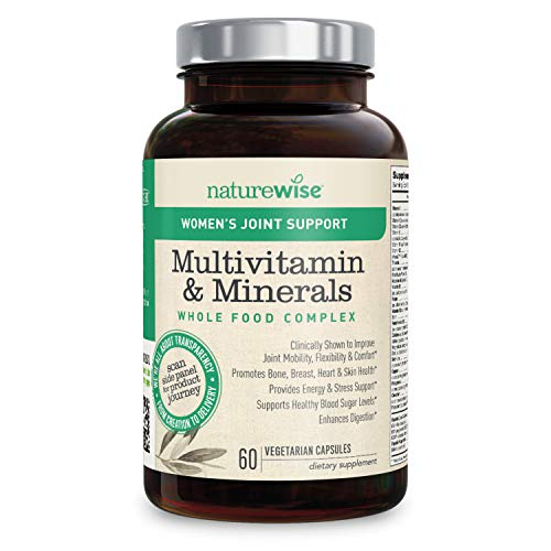 NatureWise Women's Joint Support Whole Food Multivitamin for Joint Mobility and Flexibility with Type 2 Collagen Supplement, 23 Nutrients, Green Tea (Packaging May Vary)[1 Month Supply – 60 Capsules]