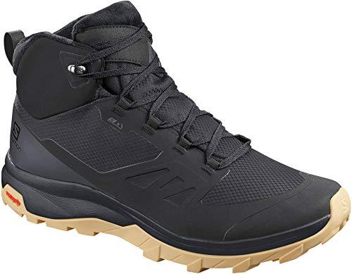 SALOMON Mens Shoes Outsnap CSWP Walking Shoe, Black/Ebony/Gum1a, 42 EU
