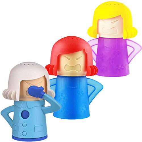 BESLIME Mikrowellenreiniger Angry Mama - Mikrowelle Dampfreiniger Schneller Dampfreiniger für Mikrowelle Cool Mama Kühlschrankreiniger 3pcs
