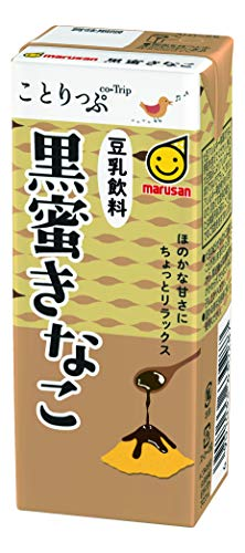 ことりっぷ 豆乳飲料 黒蜜きなこ 200ml×24本 紙パック