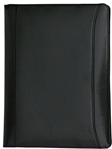 Cartera portafolios de estilo ejecutivo - Para documentos de tamaño A4 - Cuero abatanado - Negro