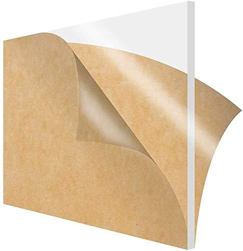 MHUI Plexiglas Plexiglas Plastikblatt Plexiglas Transparente Platte, 100X100mm, Dicke 2mm.8PCS