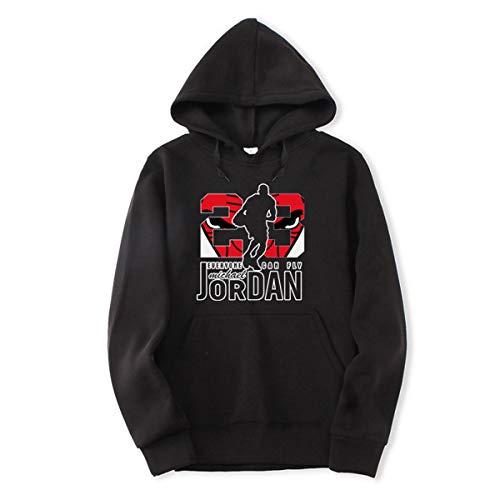 23# Jordan Hip-Hop Basketbal shirt, Heren Trui, Fashion Gedrukt Alphabet Casual trui met lange mouwen Youth Populaire Loose Top,Black,M