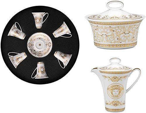 Versace Medusa Gala Gold 6 Espressotassen Medusa Gala Gold - Milchzuckerdose Medusa Gala