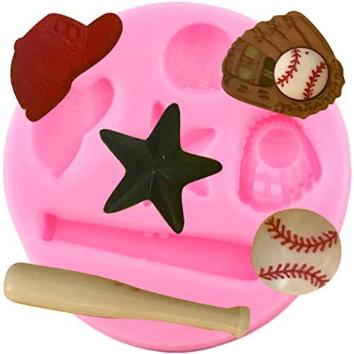 Baseball Sport Silikonformen DIY Baby Geburtstag Fondant Cupcake Topper DIY Kuchen Dekorationswerkzeuge Candy Chocolate Mould