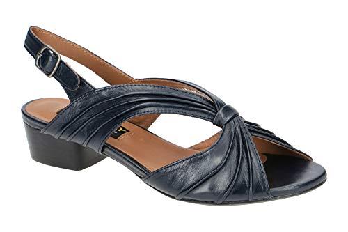 Everybody Damen Sandalette - Riemchen Sandalen Indaco 30249Q4114 blu Blau, EU 39