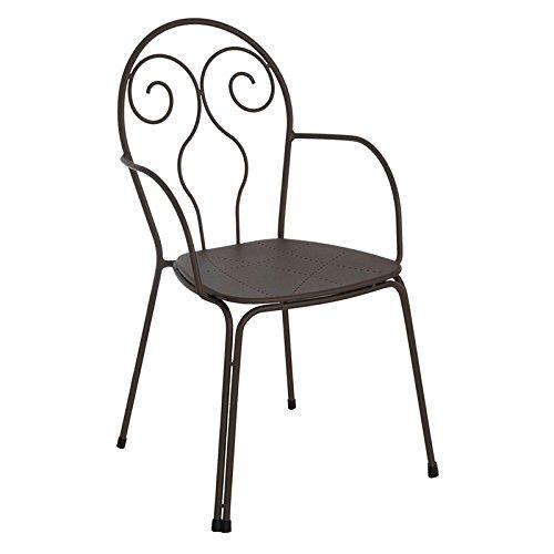 Emu Fauteuil Caprera Chaise en acier marron de extérieur jardin