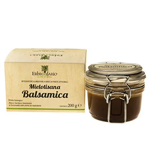 Mielotisana Balsamica Erbecedario, Tisana Balsamica Naturale al Miele, Emolliente Vie Respiratorie, 1 Confezione 200g