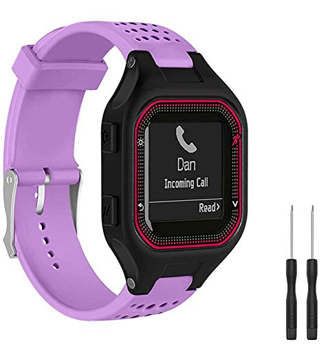 Shieranlee Armband Compatible with Forerunner 25 GPS Running Smart Watch, Sport Band Silikon Ersatzzubehör Armbänder Kompatibel für Garmin Forerunner 25 Fitness Tracker with Adapter Tools