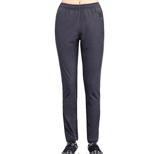 emansmoer Femmes Longues Outdoor Imperméable Respirant Pantalon Dames Quick Dry Élastique Extensible Pantalon Sport Fitness Camping Randonnée Pantalon (XXX-Large, Gris)