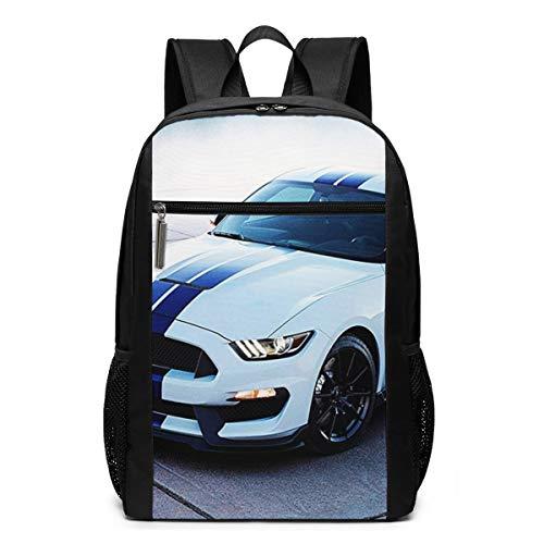 Schulrucksack Kühler weißer Mustang, Schultaschen Teenager Rucksack Schultasche Schulrucksäcke Backpack für Damen Herren Junge Mädchen 15,6 Zoll Notebook
