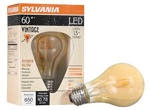 LEDVANCE 75349 Sylvania Vintage LED Bulb, Amber Finish
