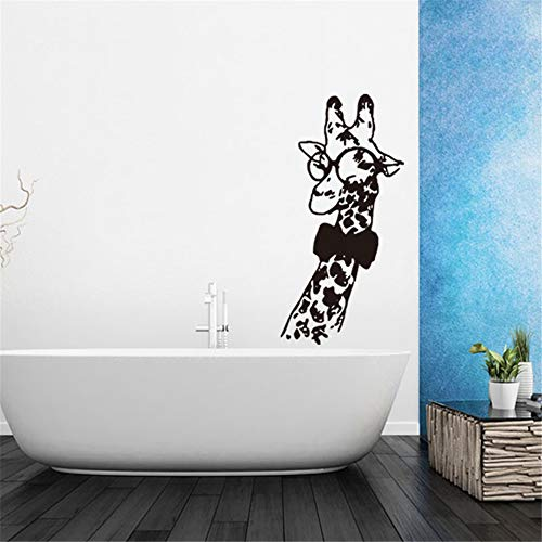 Muursticker Verwijderbare muursticker muursticker voor muurdecoraties Cartoon Giraffe Office Toilet Woonkamer Slaapkamer Fashion Decals 19.6 x 34.3 inch