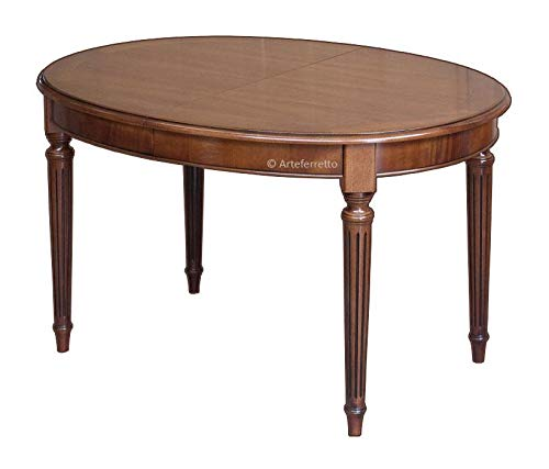 Arteferretto Table Ovale Style Louis XVI avec allonges