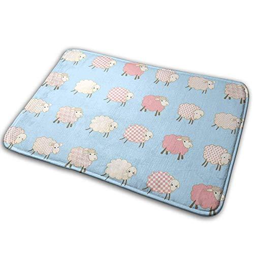 TEIJWET Rutschfeste Fußmatten Schaf-Teppich für den Innen- und Außenbereich, saugt Feuchtigkeit auf, waschbar, Schmutzfangmatten