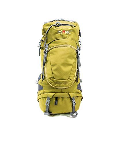 RSonic H2O Wanderrucksack | Reiserucksack | 80 Liter | Wasserdicht | Trekkingrucksack | Campingrucksack | inkl. Regenschutz | Grün