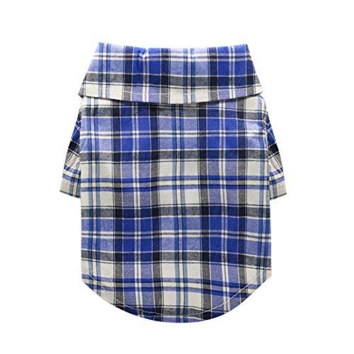 Zfy Huisdier kleding hondenkleding levert kleine puntige kraag huisdier shirt lente en zomer modellen, XXL, H